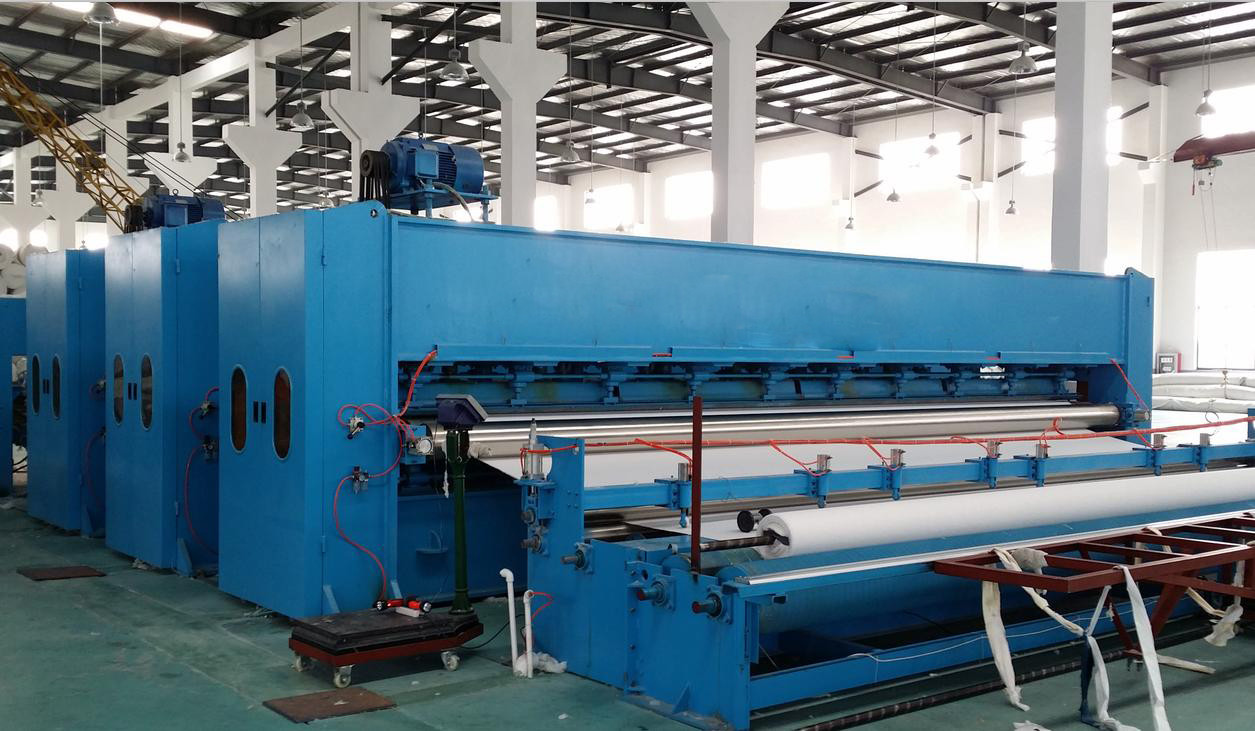 4m Needle Punch Non Woven Fabric Making Machine Power 100-350kw